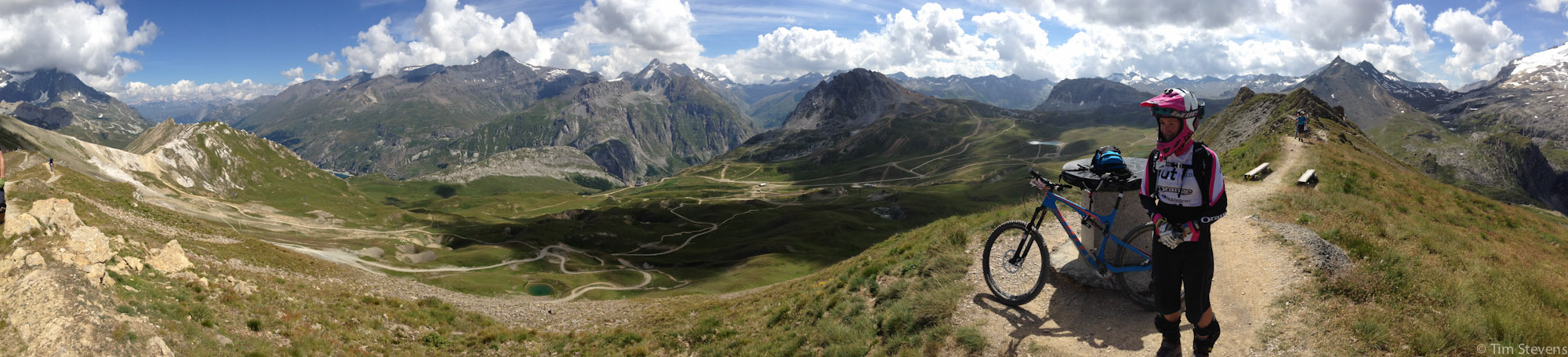 Day 1 of the Trans Savoie enduro race, Val D'Isere.